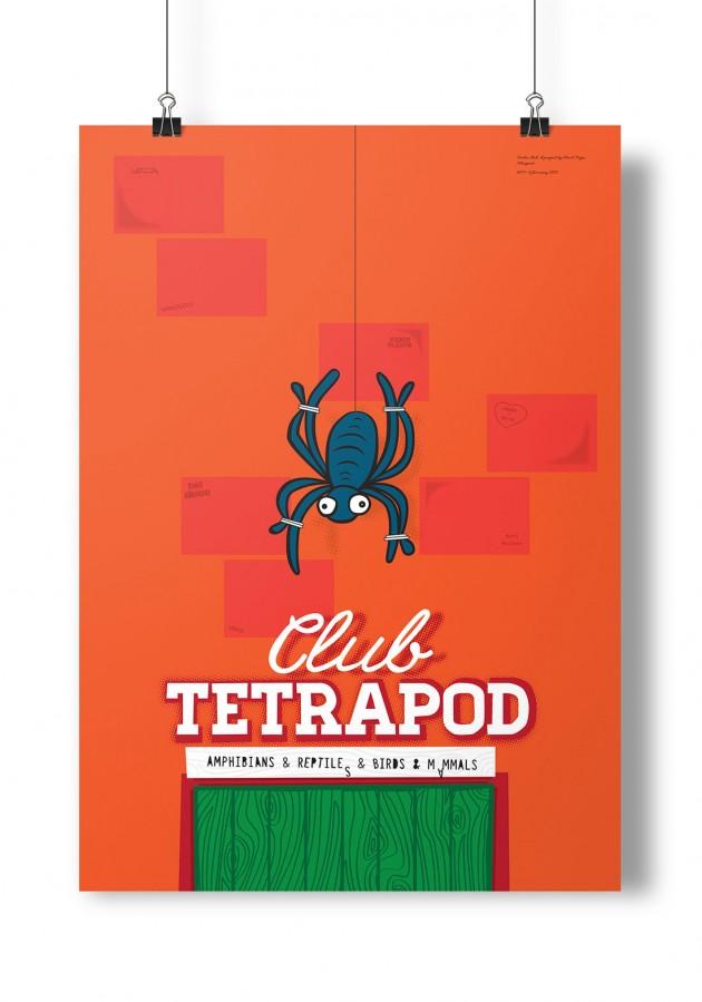 """Poster Club, """"Tetrapode"""", Martin Boath"""