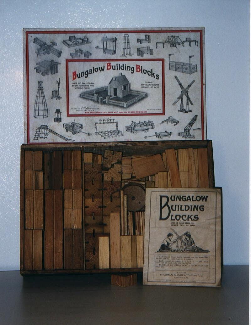 Bungalow Building Blocks materiali: legno epoca: fine '800 e primi del '900
