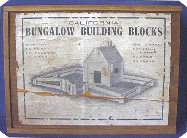 California Bungalow Building Blocks materiali: legno epoca: fine '800 e primi del '900