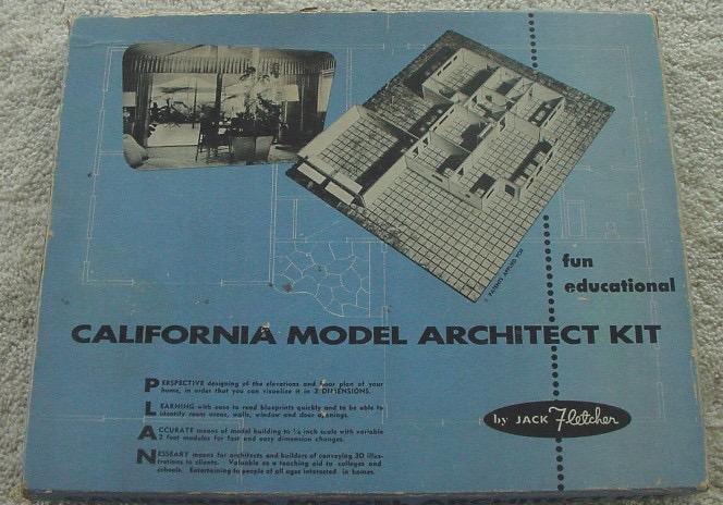 California Model Architect Kit materiali: legno e cartone epoca: anni '50 e '60