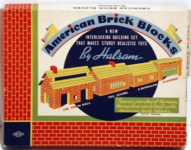 American Brick Blocks materiali: legno e cartone epoca: anni '40 e '50