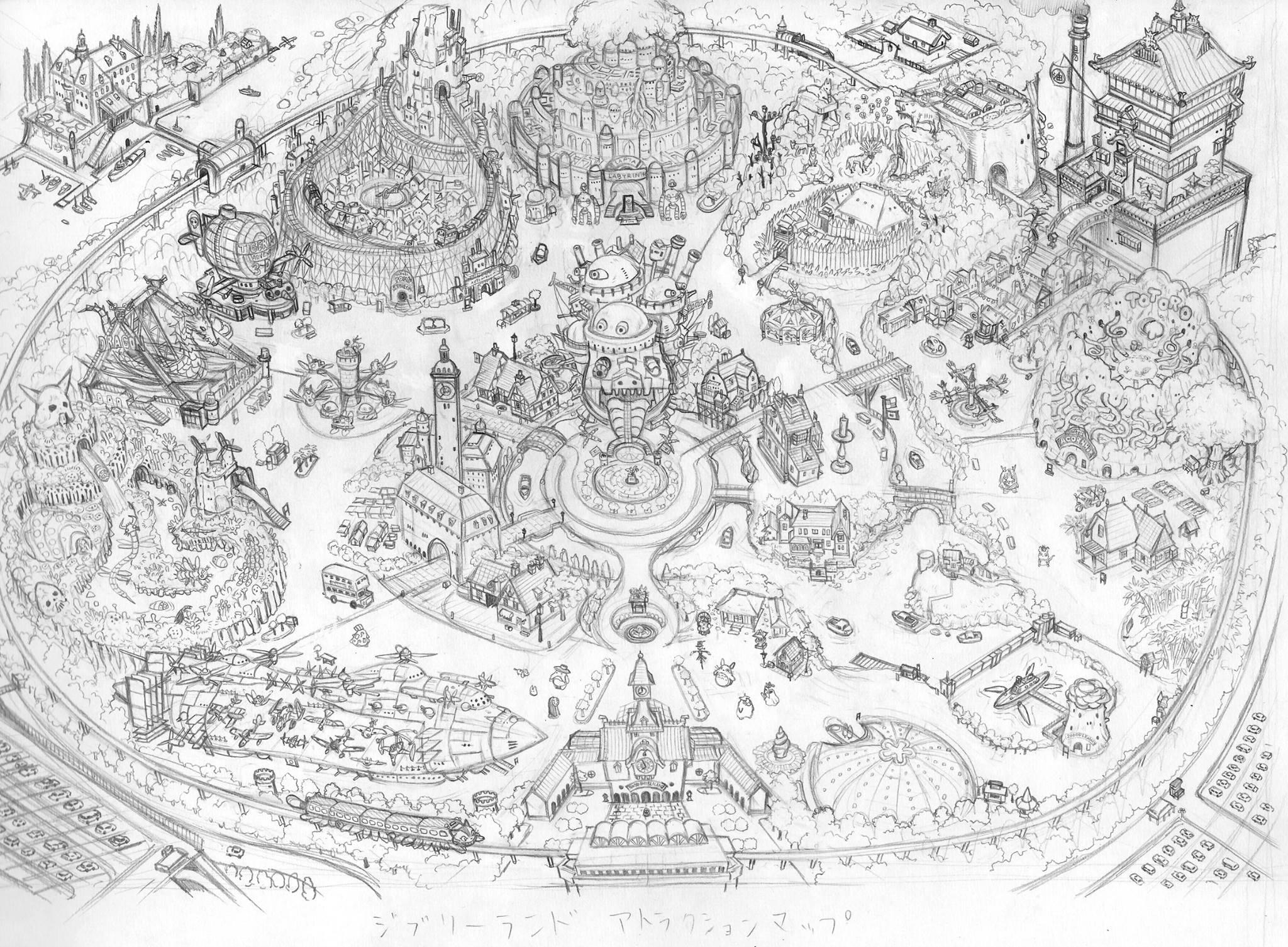 La Ghibli Land Creata Dallillustratore Giapponese Takumi