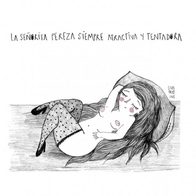 "Sara Fratini, ""Señorita Pereza"", matita, 2014, ©Sara Fratini"