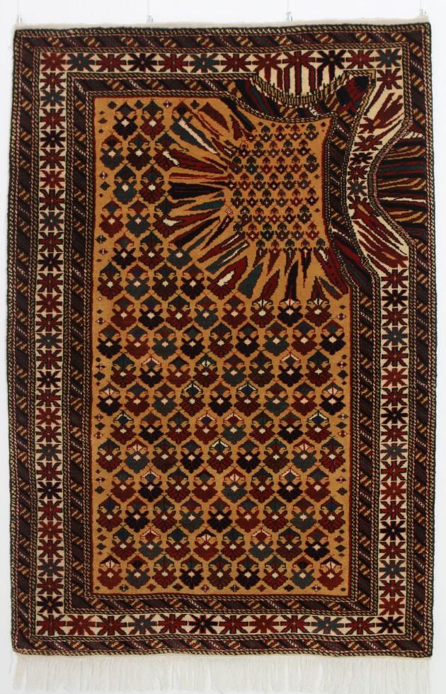 """Faig Ahmed, """"Hollow"""", 100x150cm, tappeto tessuto a mano, 2011"""