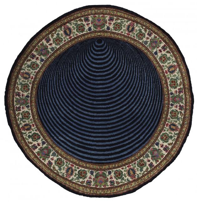 """Faig Ahmed, """"Cone"""", 100x150cm, tappeto tessuto a mano, 2011"""