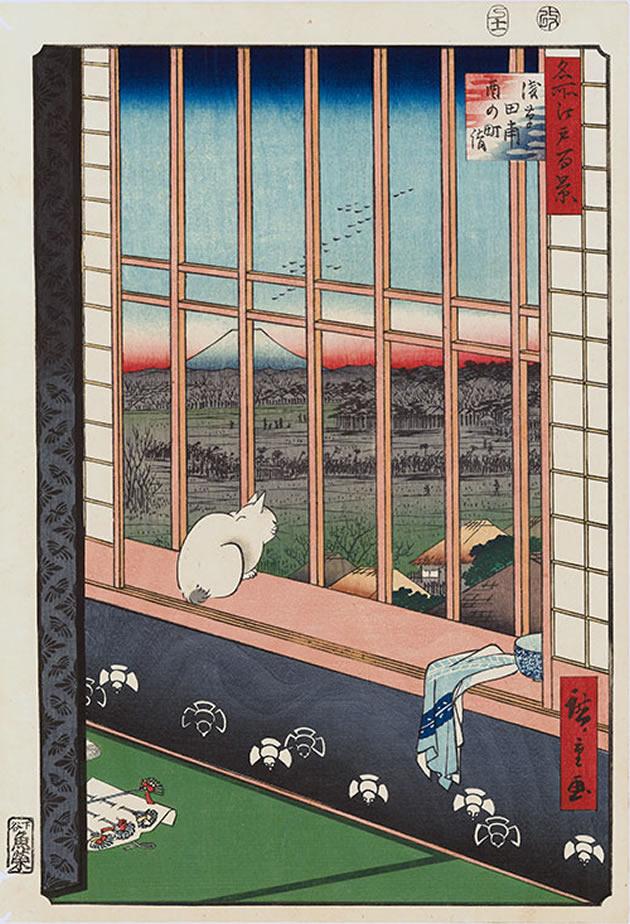 """Utagawa Hiroshige (1797-1858), """"Asakusa Ricefields and Torinomachi Festival"""", 1857, color woodblock print"""