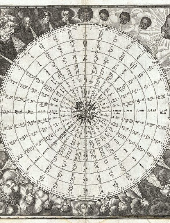 961px 1650 Jansson Wind Rose Anemographic Chart or Map of the Winds   Geographicus   Anemographica jannson 1650
