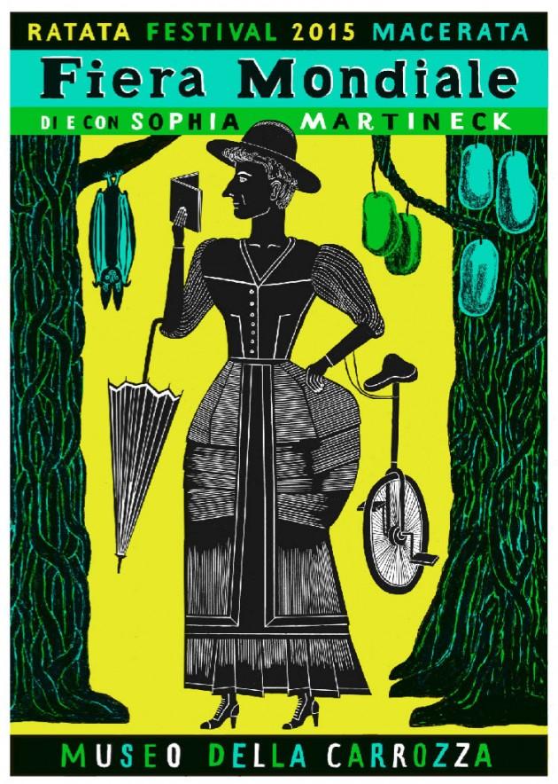 manifesto della mostra personale di Sophia Martineck