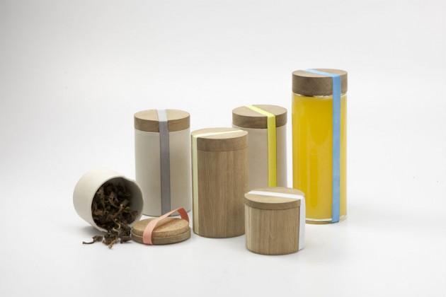 """""""The Burks"""", di Oskar Olsson. Sistema di contenitori per conservare i cibi (acquistati da negozi che vendono prodotti sfusi)"""