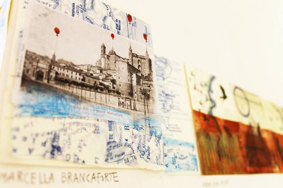Archivio dei paesaggi immaginari – progetto collettivo di cartoline d'artista Marcella Brancaforte e Anna Nina Masini (foto: Sabine Meyer)