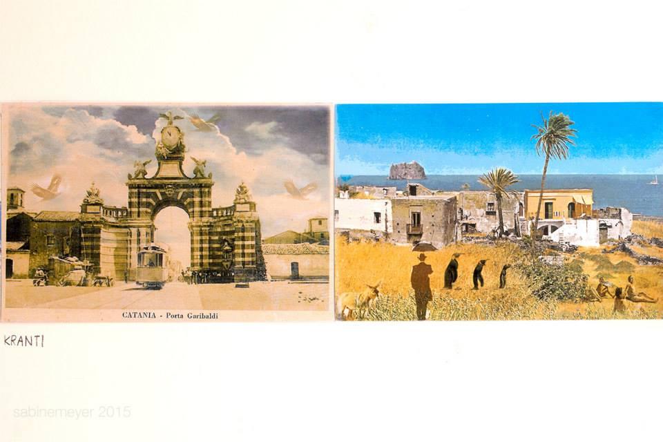 Archivio dei paesaggi immaginari – progetto collettivo di cartoline d'artista Kranti (foto: Sabine Meyer)