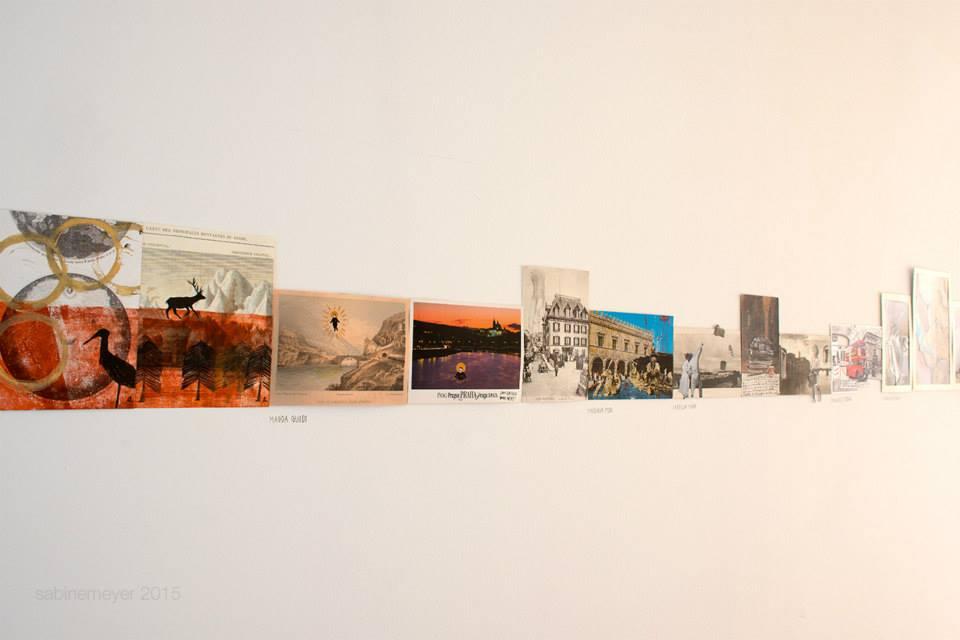 Archivio dei paesaggi immaginari – progetto collettivo di cartoline d'artista da sinistra Anna Nina Masini, Magda Guidi, Isabella Mara e Fernanda Pessolano (foto: Sabine Meyer)