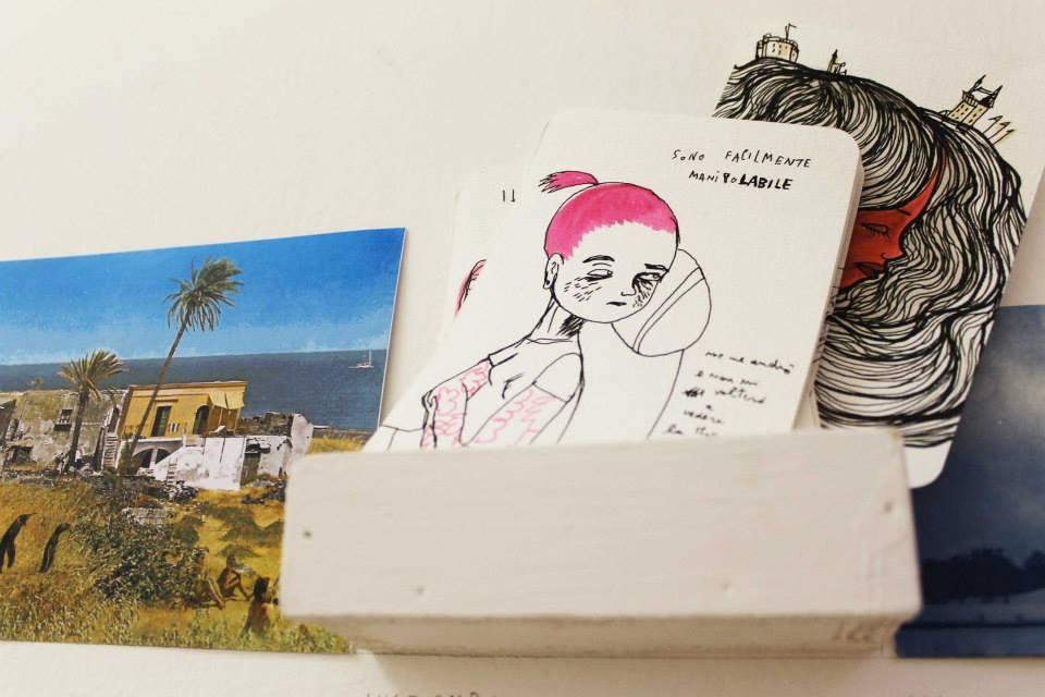 Archivio dei paesaggi immaginari – progetto collettivo di cartoline d'artista Kranti e Nicoz Balboa (foto: Sabine Meyer)
