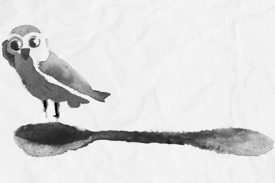 """il logo di Aristortele, una """"nottola al cucchiaio"""", è opera del disegnatore Pierre Bourrigault"""