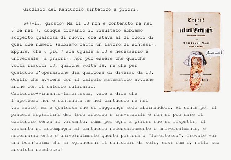 """""""Giudizio del Kantuccio sintetico a priori"""""""