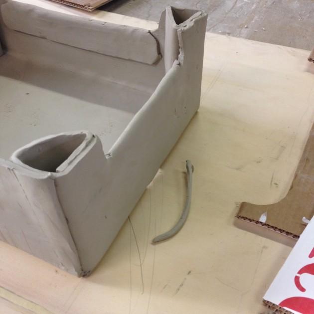 Cassetta in ceramica