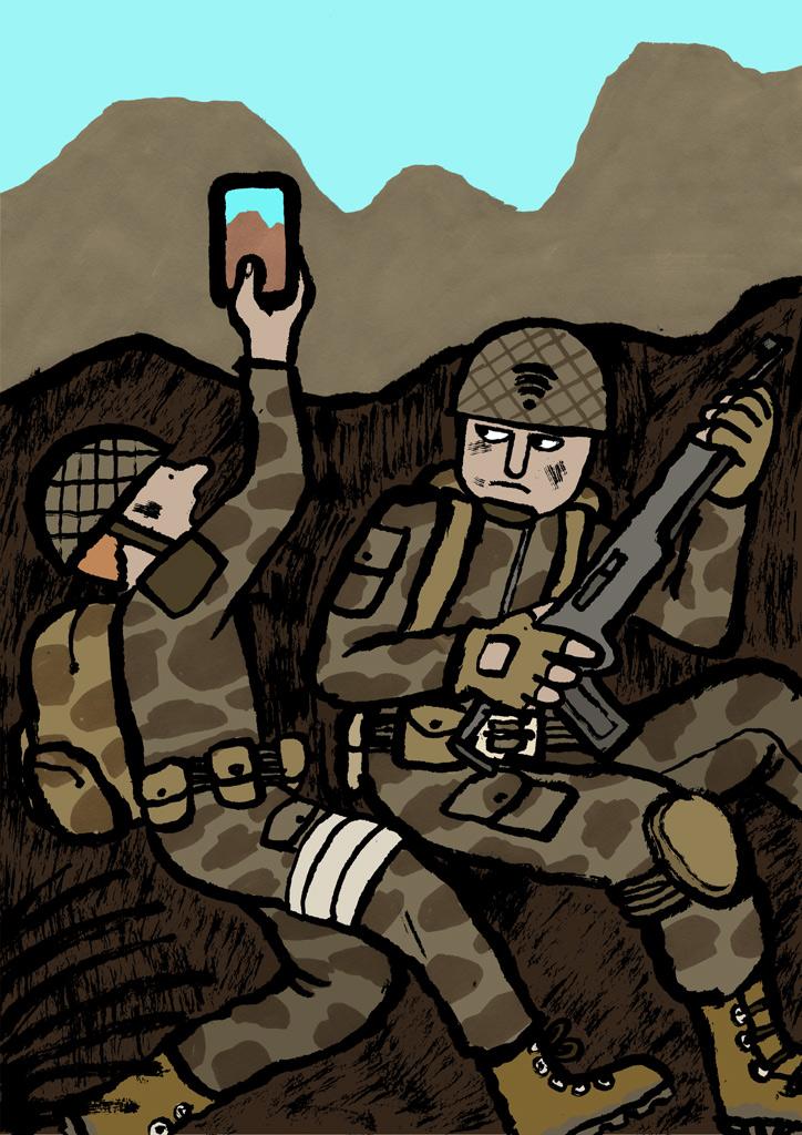 """Jean Jullien, """"Soldiers"""""""