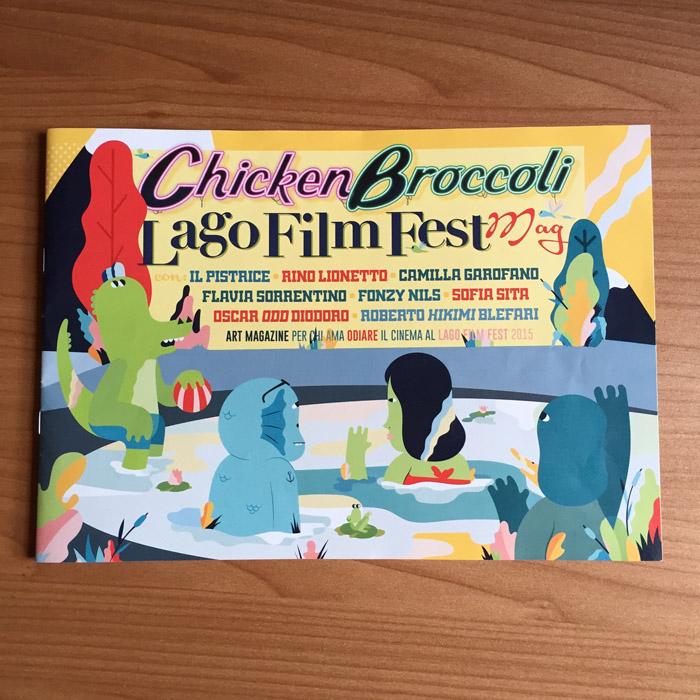 Il Chicken Broccoli Lago Film Fest Magazine, realizzato appositamente per il festival