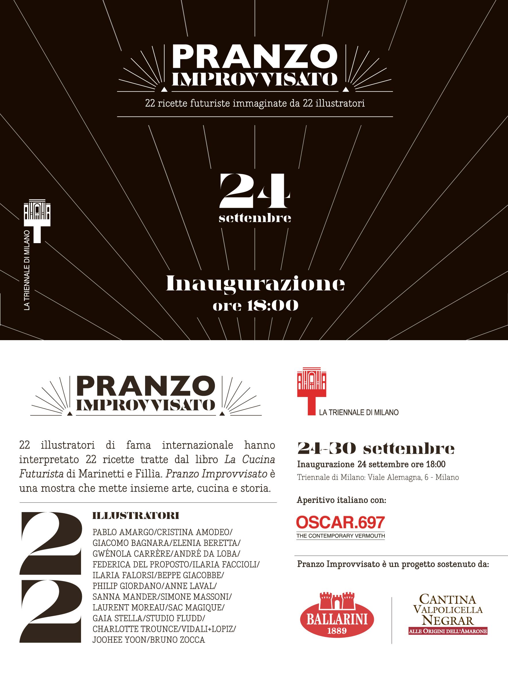L'inaugurazione della mostra, il 24 settembre alle 18,00 presso La Triennale di Milano viale Alemagna 6, Milano