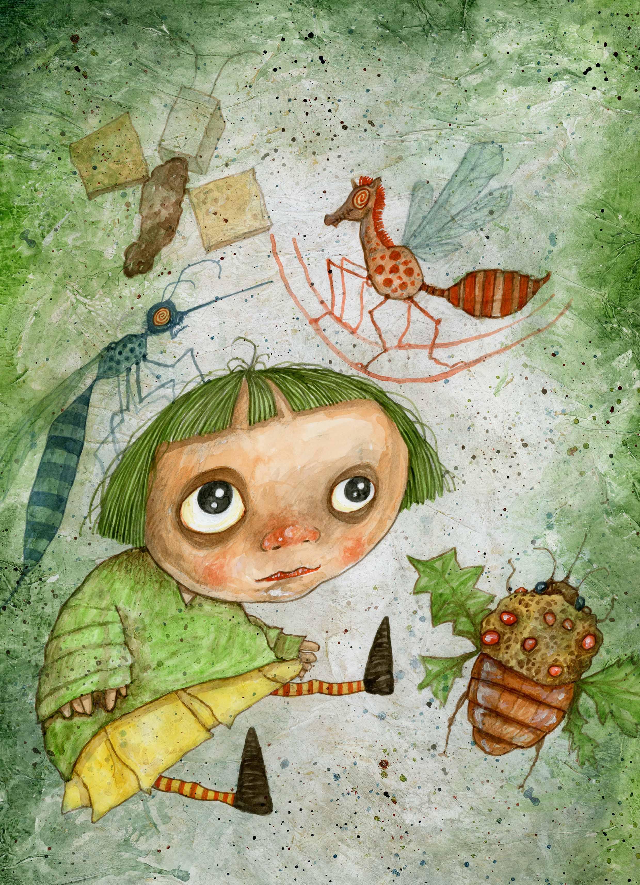 Alice e insetti ©Stefano Bessoni