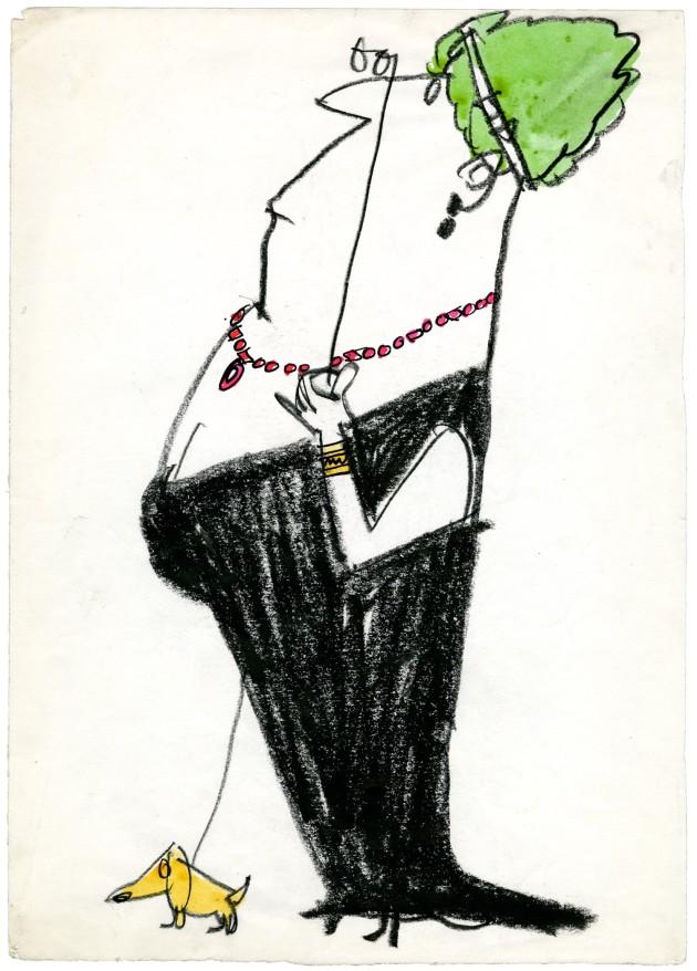 Manzi Riccardo Donna con cagnolino 1962 091