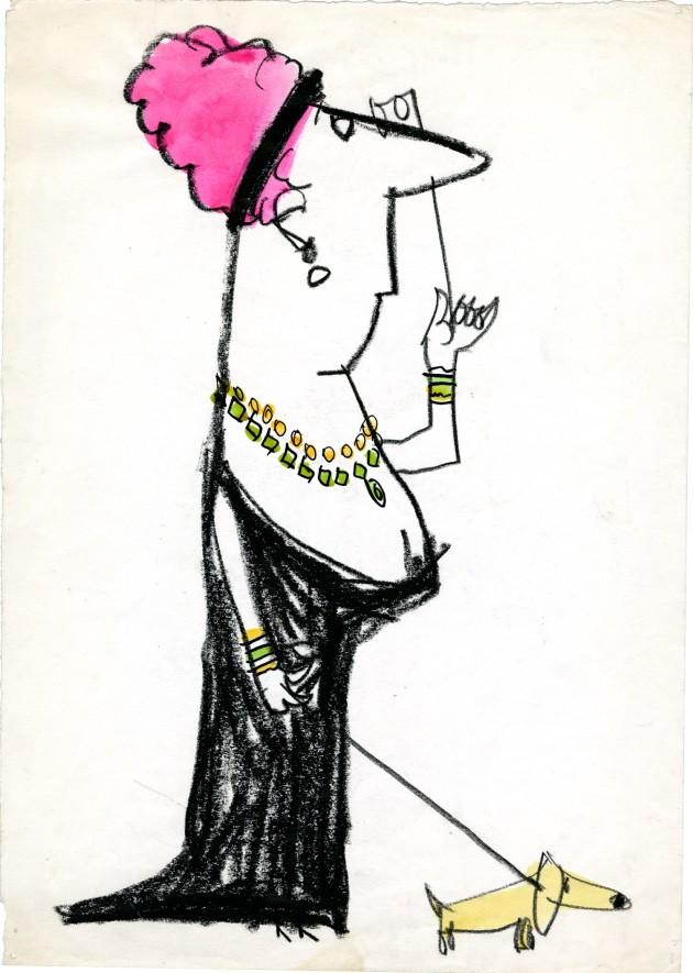 Manzi Riccardo donna con cagnolino rosa  1962 093