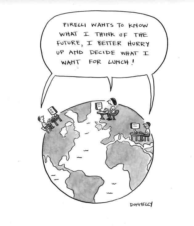 PIrelli cartoon 1 Imagine Future