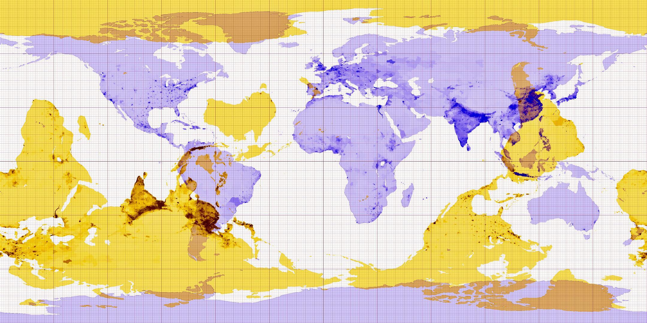 Ecco cosa troveresti, partendo da ogni punto del pianeta, scavando un buco fino al centro della terra, sbucando dall'altra parte (via Brilliant Maps)