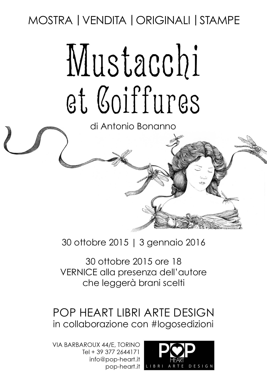Cartolina della mostra che si terrà a Torino presso la Pop Heart dal 30 ottobre