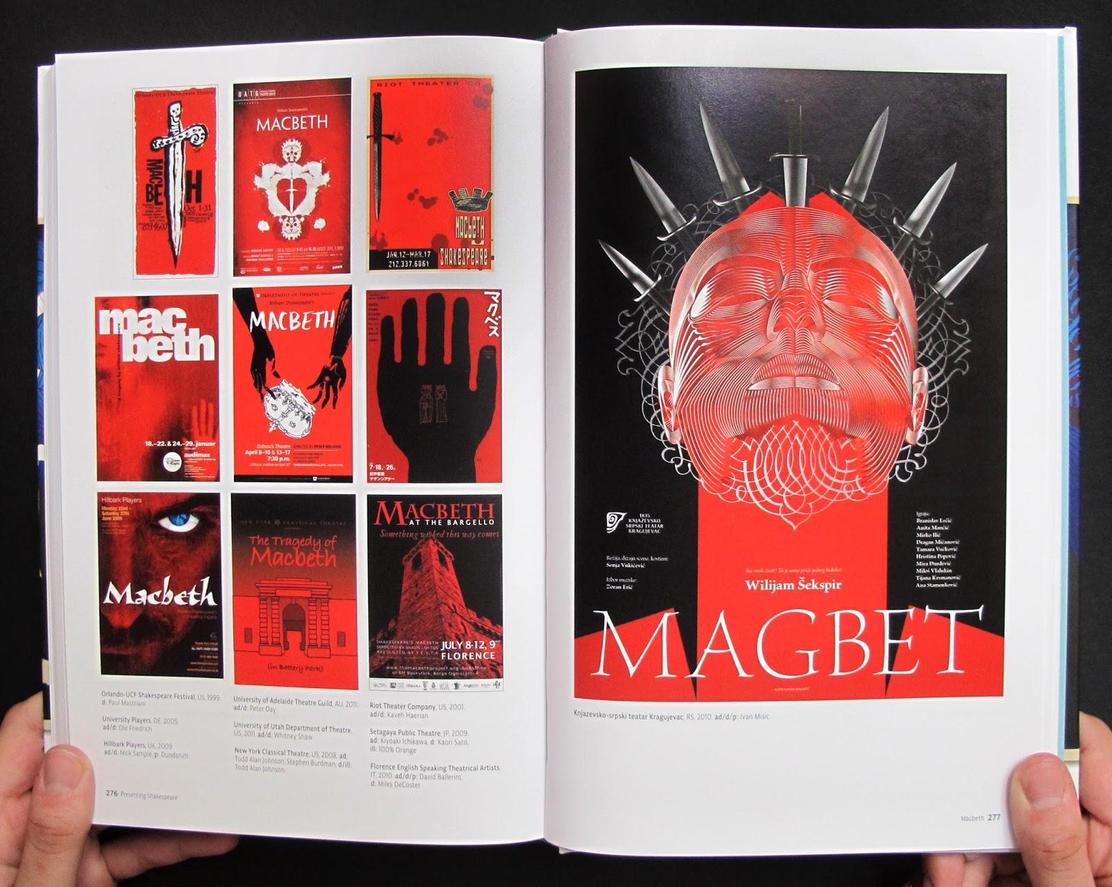 """""""Presenting Shakespear"""", di Mirko Ilić e Steven Heller, Princeton Architectural Press 2015 (foto via: mirkoilic.blogspot.co.uk/)"""