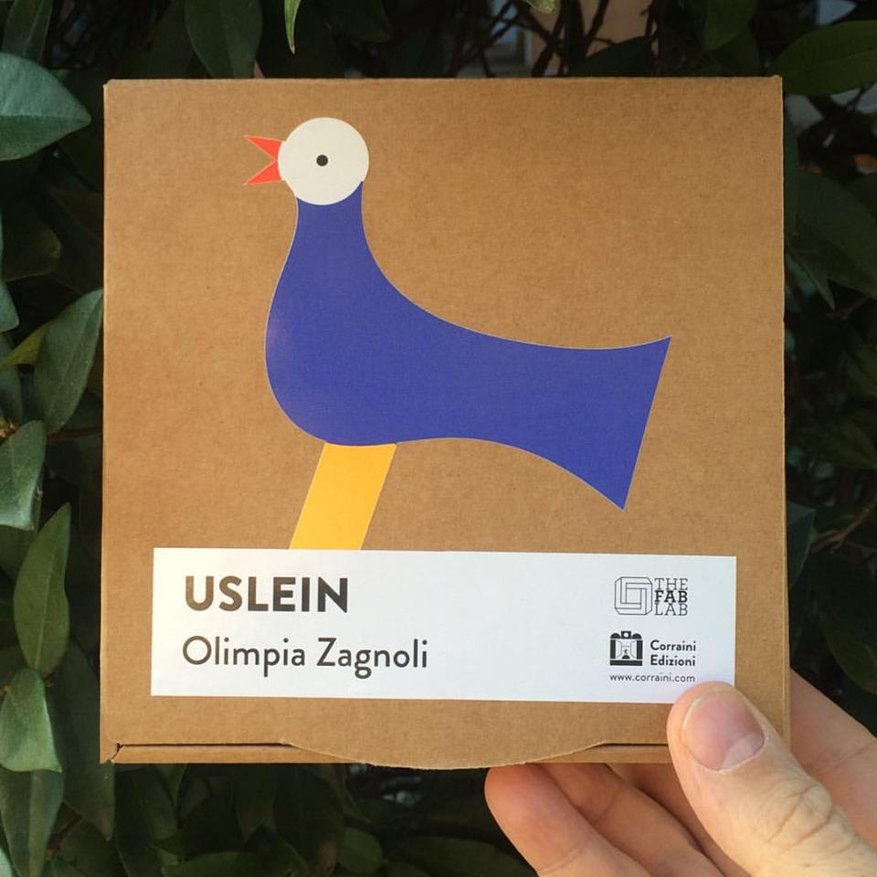 l'Uslein elettrico, progettato da Olimpia Zagnoli e realizzato da The FabLab in collaborazione con Corraini, in vendita durante l'evento
