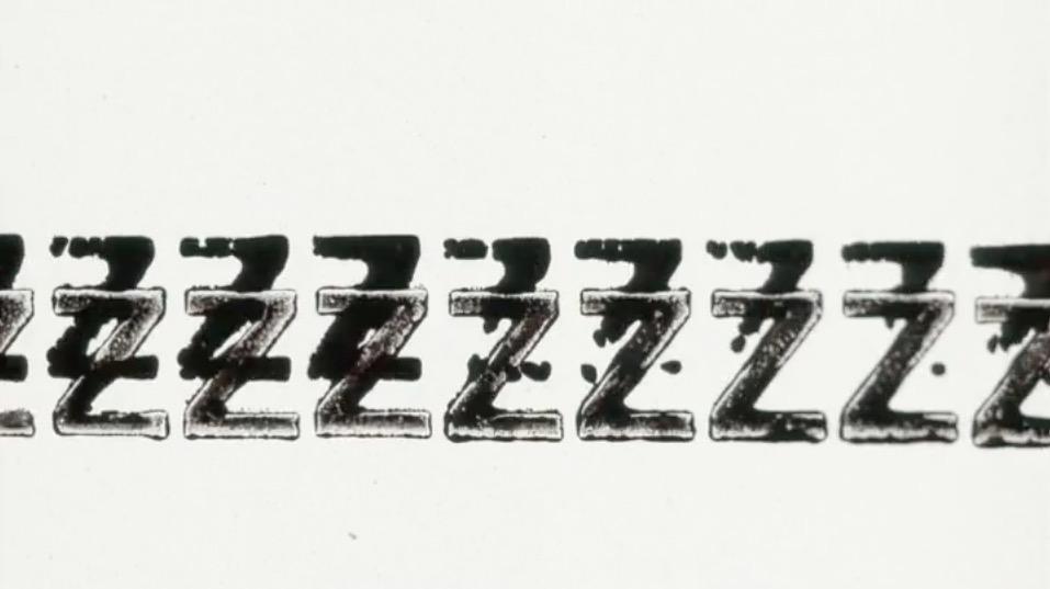 """fotogramma tratto da """"Dialogue"""", di Judith Poirier, 2008, Letterpress on 16mm & 35mm film stock"""