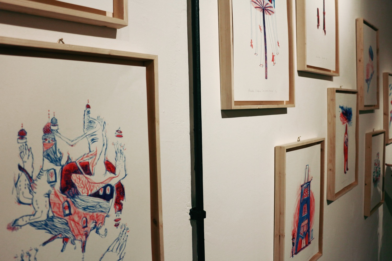 """dalla mostra """"Flanerì di carta"""", a cura di Elisa Talentino e Inuit, in collaborazione con BBB15 (foto Frizzifrizzi)"""
