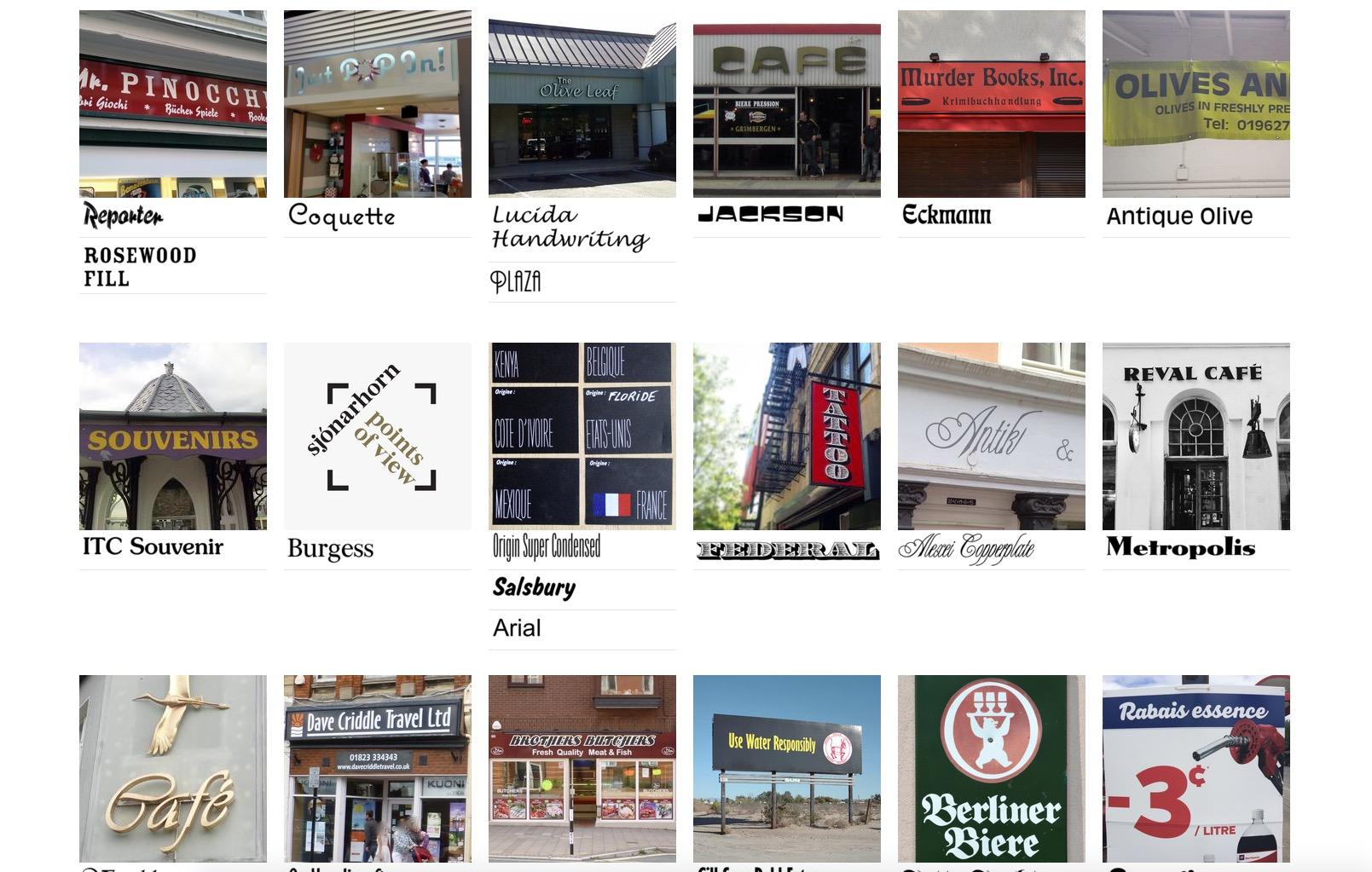 """Fonts In Use: i caratteri tipografici nella """"vita reale"""""""