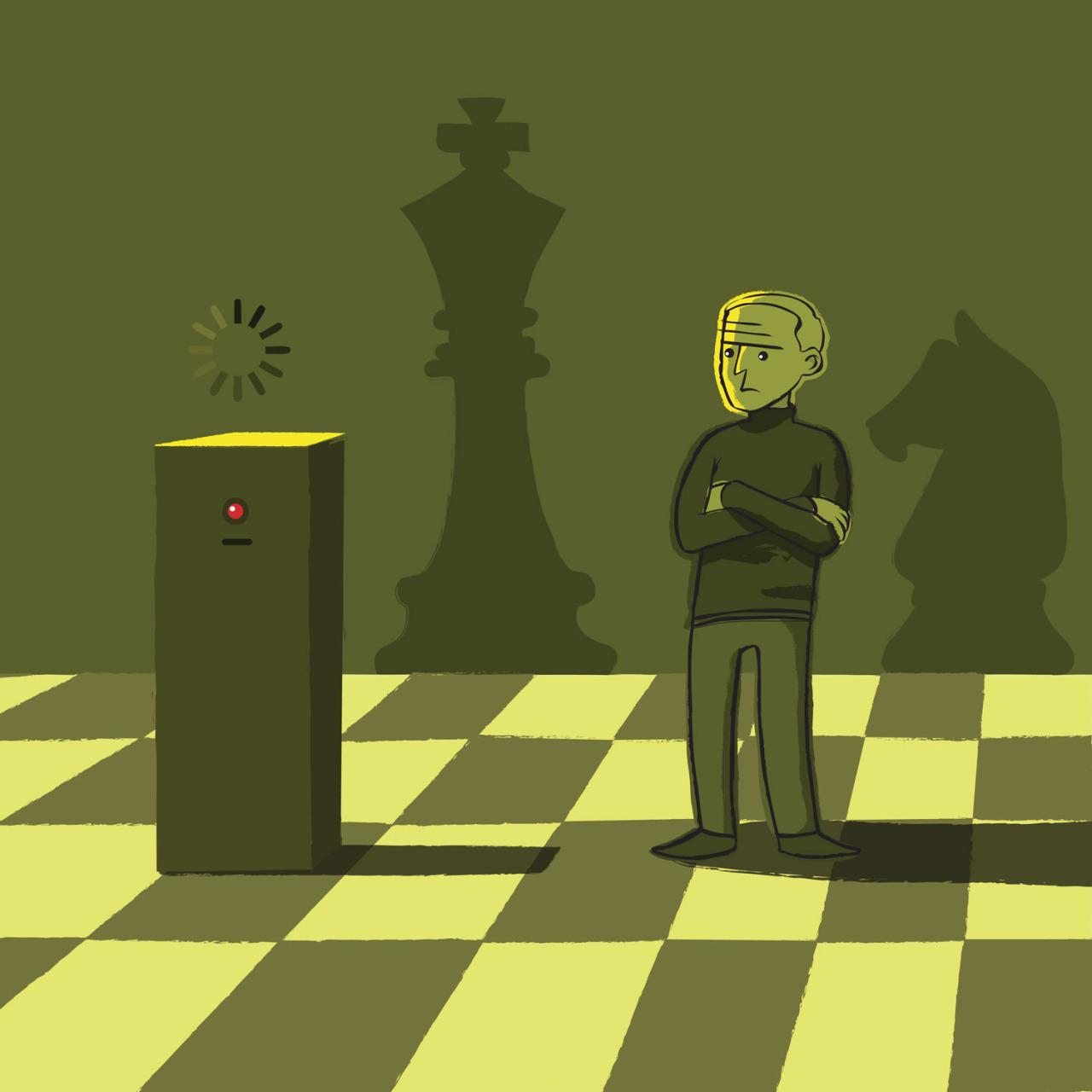 """17 febbraio 1996, Boris Kasparov batte a scacchi il supercomputer """"Deep Blue"""" della IBM (© Nicola Ferrarese)"""