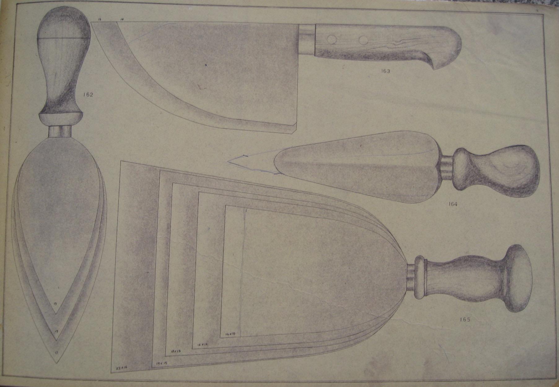 Coltelli per formaggi, dal catalogo Due Ancore del 1953