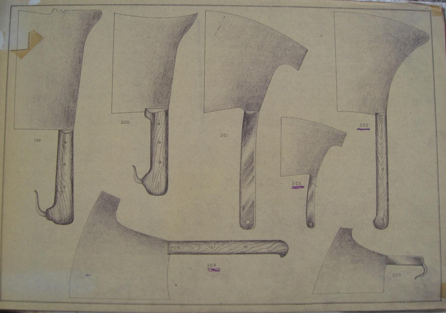Mannaie, dal catalogo Due Ancore del 1953