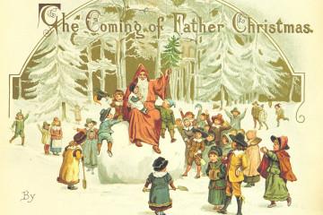 """le immagini sono tratte dal libro """"The Coming of Father Christmas"""", di Eliza F. Manning, stampato a Londra dalla F. Warne & Co. nel 1894 e digitalizzato e reso disponibile al pubblico dalla British Library"""