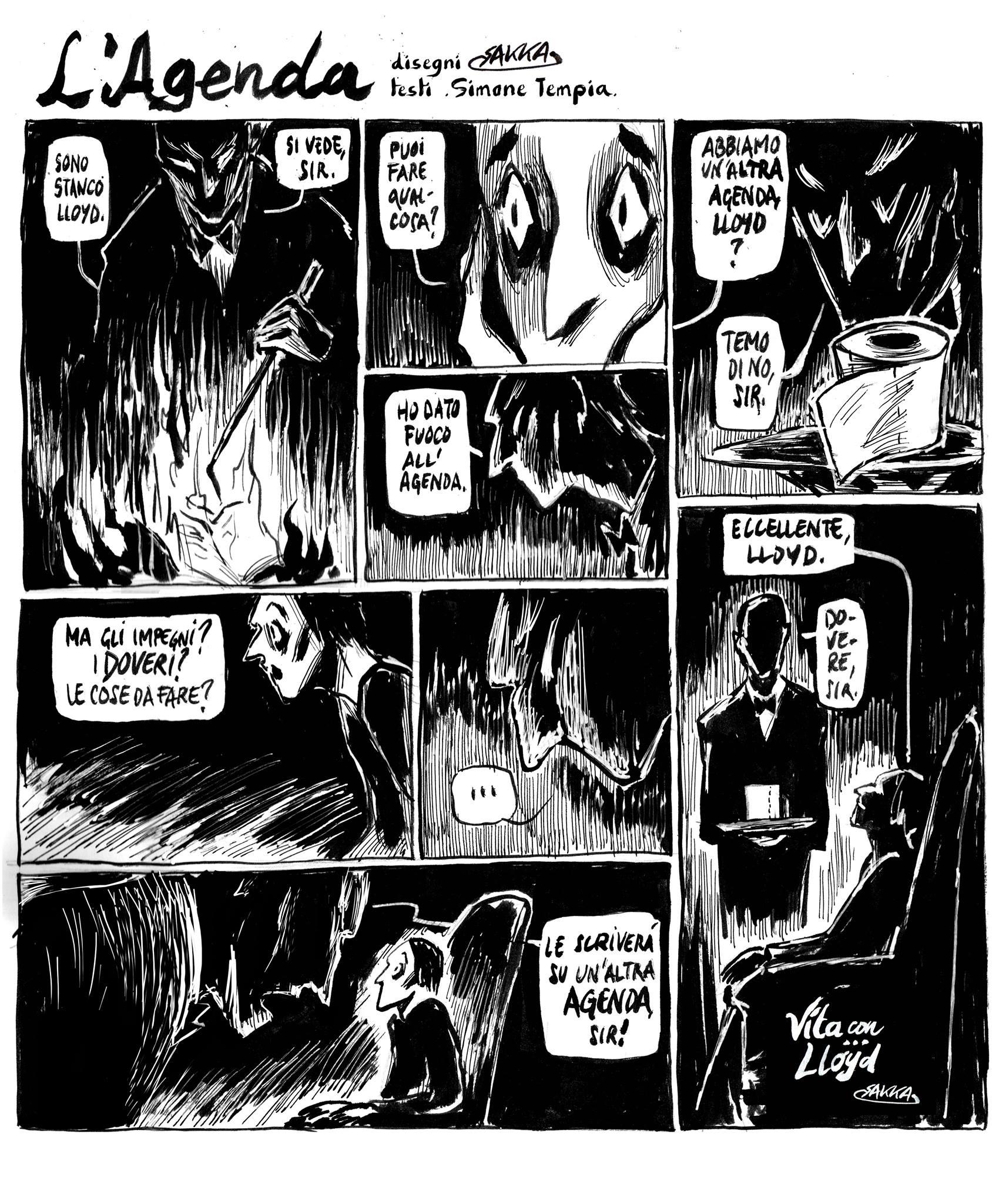 """Un dialogo di """"Vita con Lloyd"""" interpretato da Sakka"""