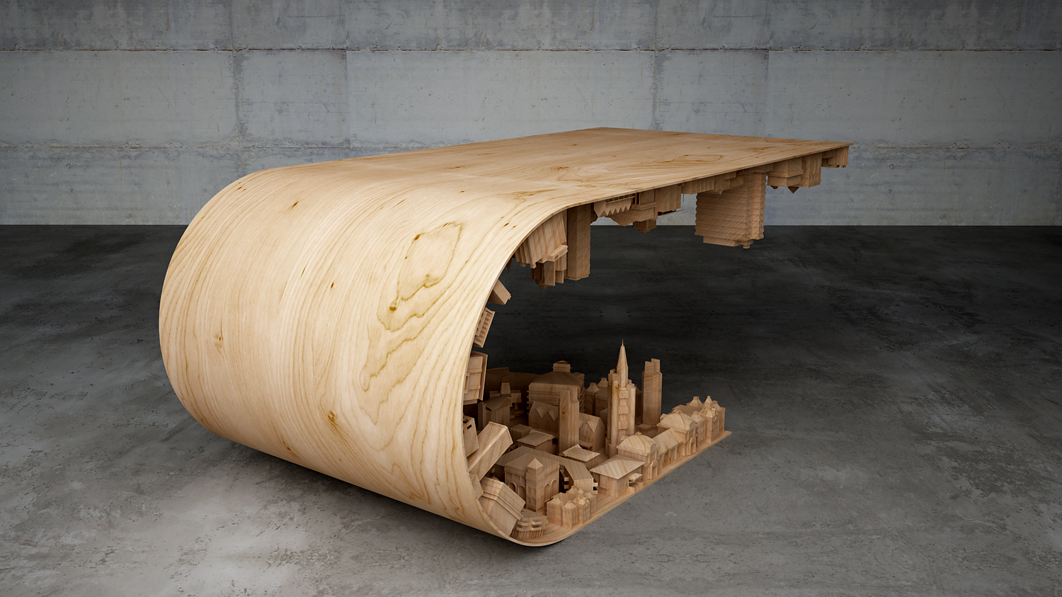 """Stelios Mousarris, """"Wave City Coffee Table"""""""