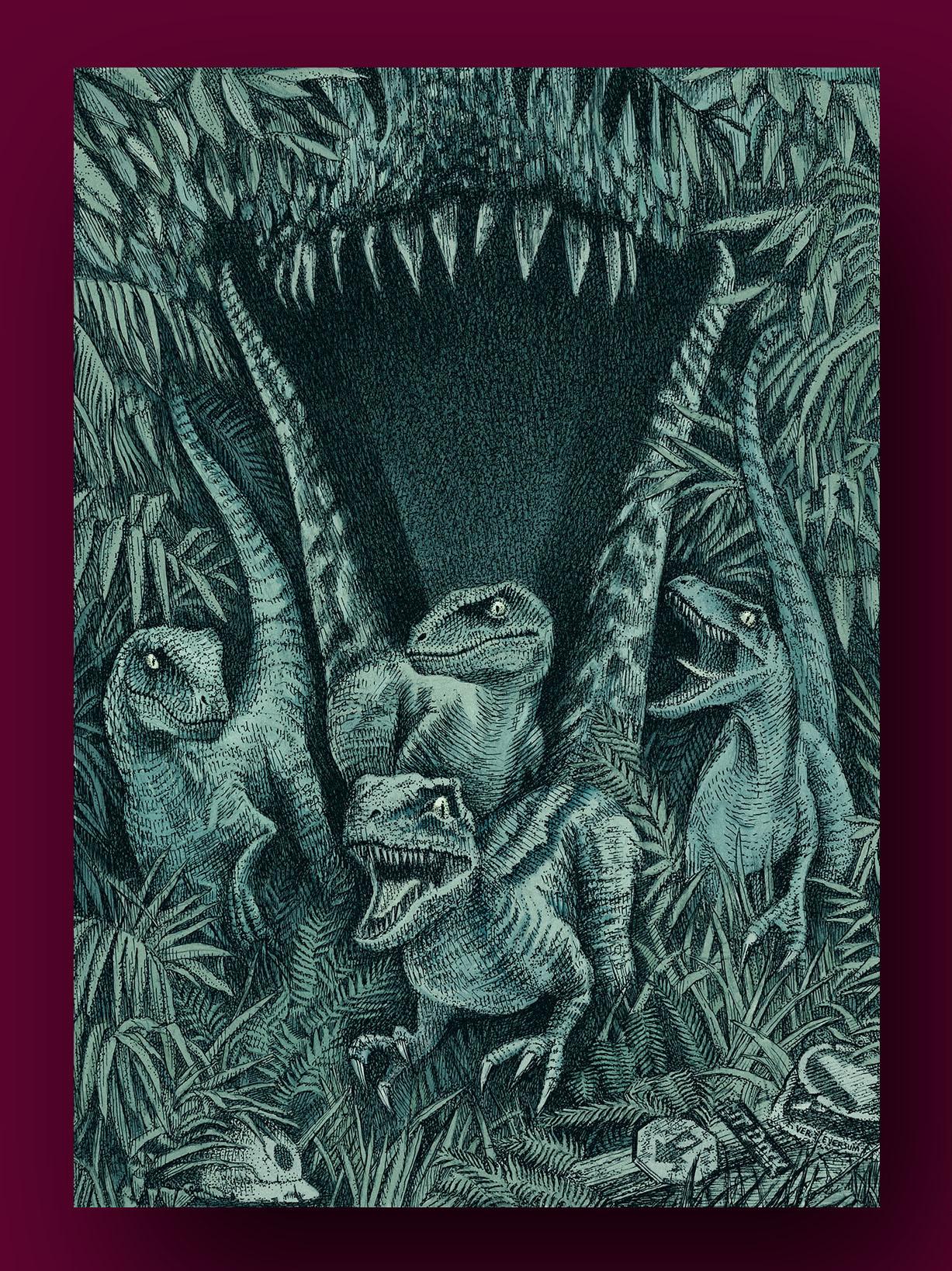 """Jurassic World"", illustrato da Ver Eversum"