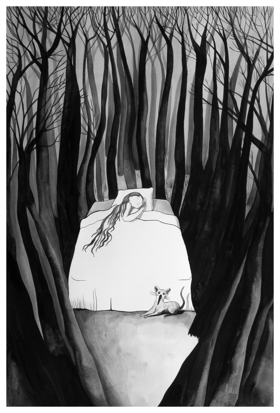 """Chiara Dattola, """"Sogno"""", inchiostro su carta, 2015"""