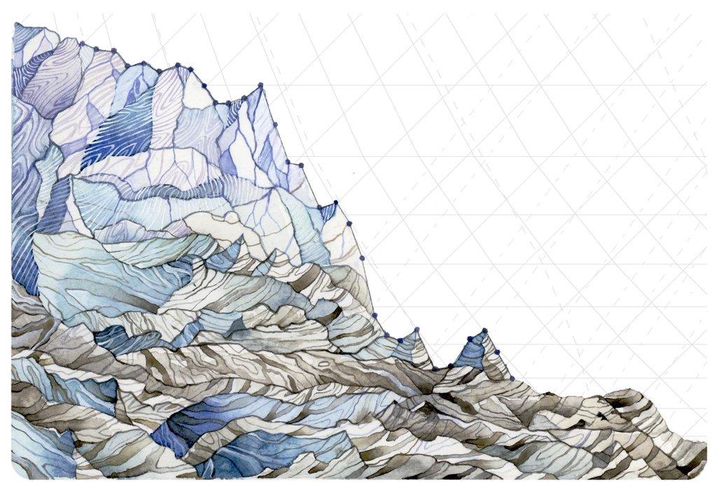 La riduzione dei ghiacciai (© Jill Pelto)