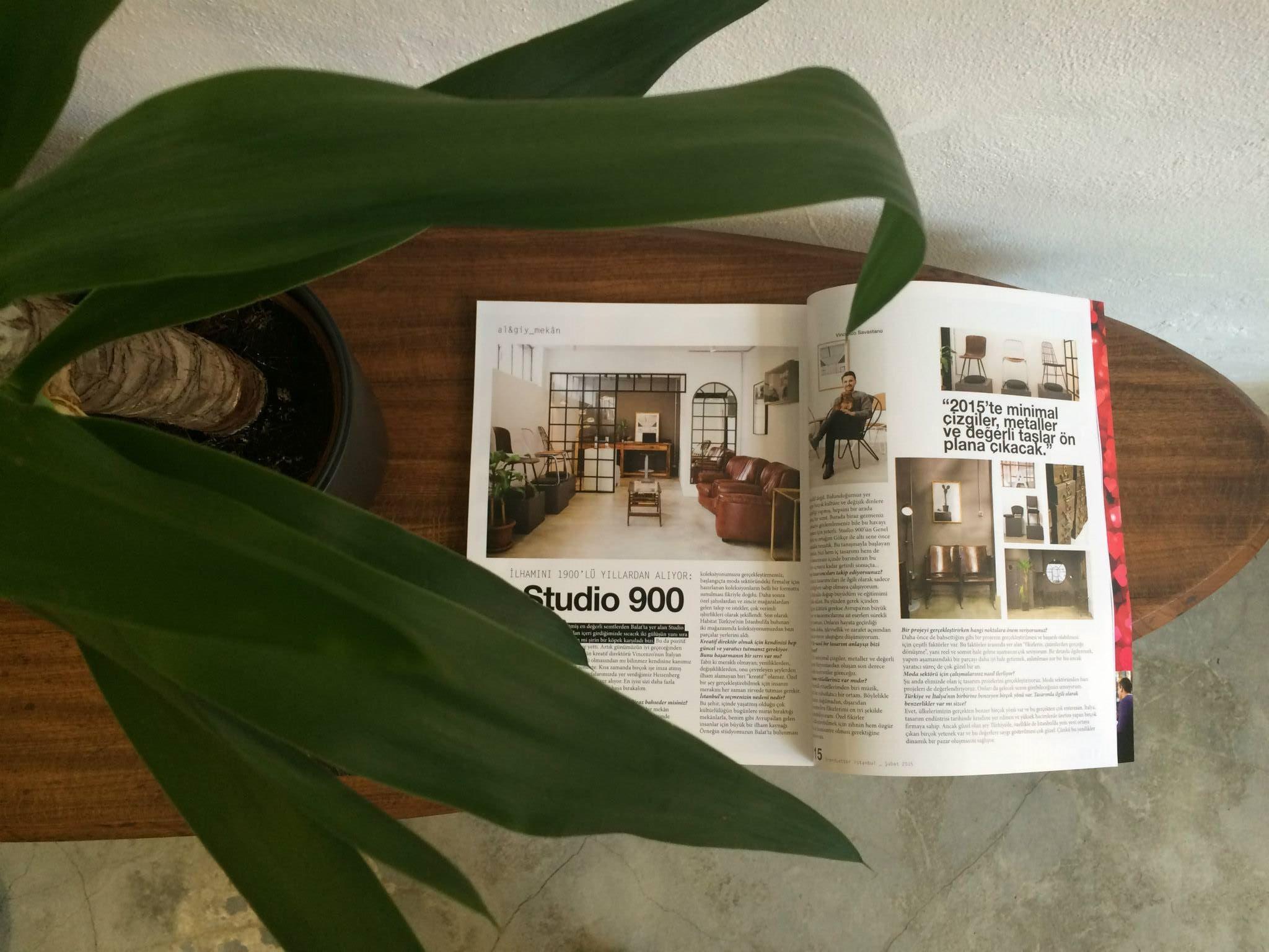 Una delle tante riviste che parlano di Studio 900 Design