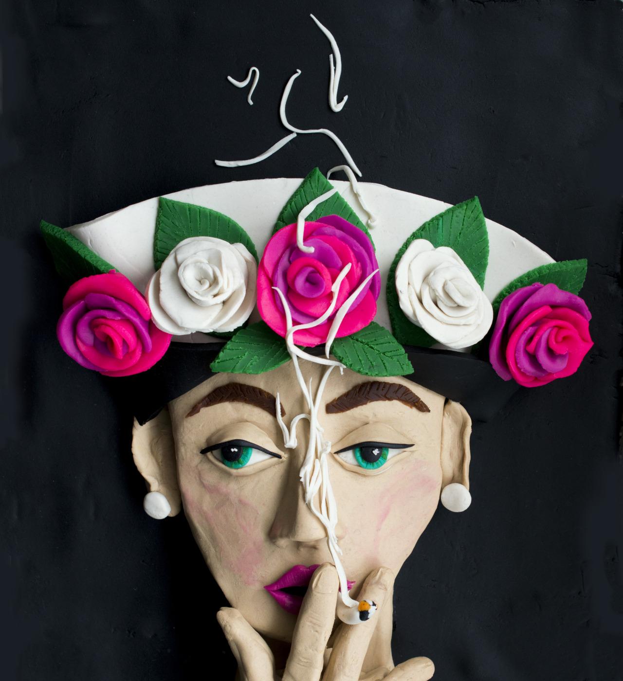 """""""Hat + 5 Roses"""", di William Klein per Paris Vogue, 1956 (guarda l'originale)"""