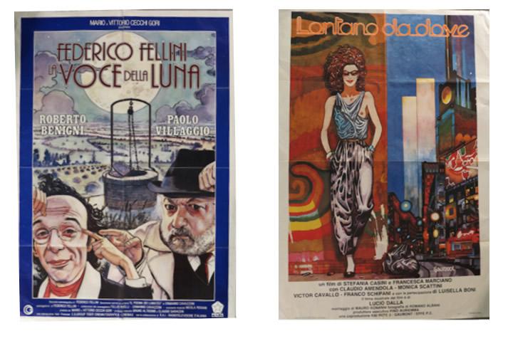 Immagine a sinistra: Manara – La voce della Luna   Immagine a destra: Pazienza – Lontano da dove