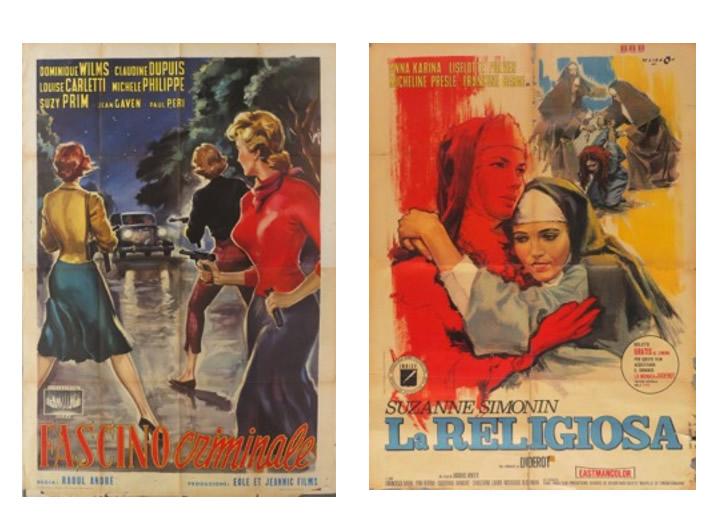 Immagine a sinistra: Longi – Fascino criminale    Immagine a destra: Cesselon – La religiosa
