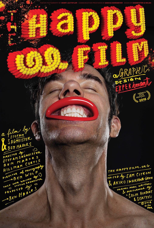 la locandina del film (ovviamente realizzata da Sagmeister)