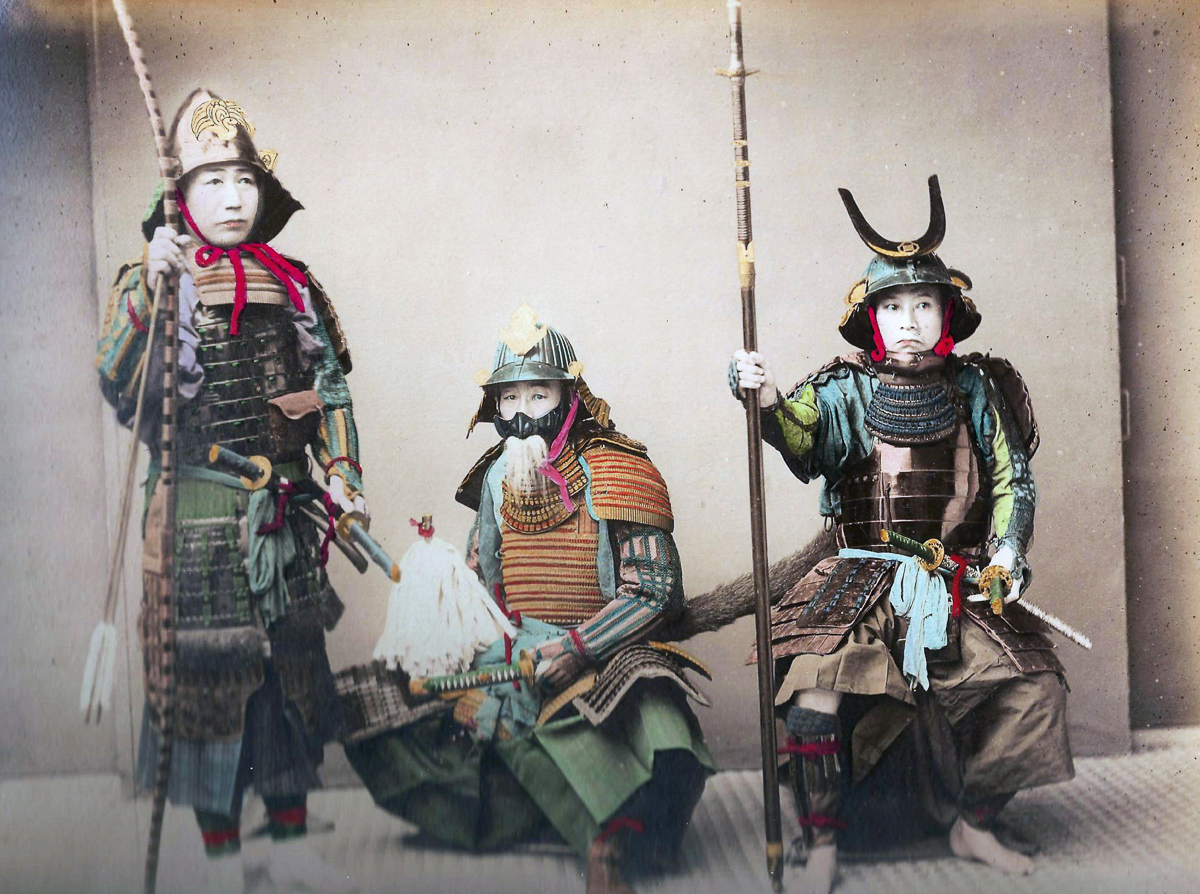 Guerrieri samurai giapponesi, 1900 (foto: Universal History Archive/UIG via Getty Images)