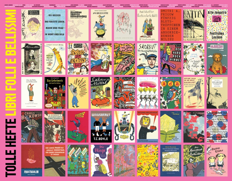 Tolle Hefte, poster dei libri pubblicati dall'editore